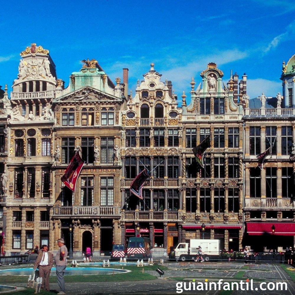 Viajar con los niños. Fotos de Bruselas