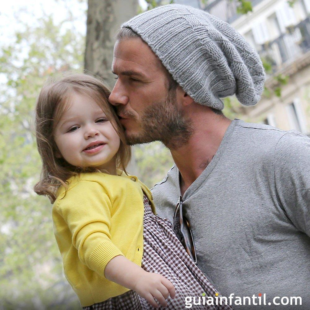 Padres famosos con sus niños