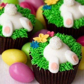 Decorar muffins de Pascua