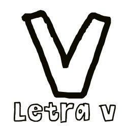 La letra V