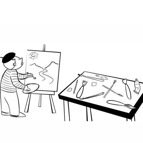 Adivinanza: Sobre lienzo, o en papel