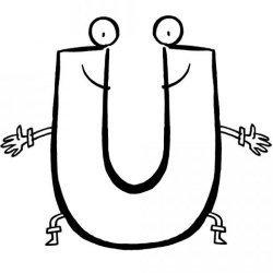 La letra U