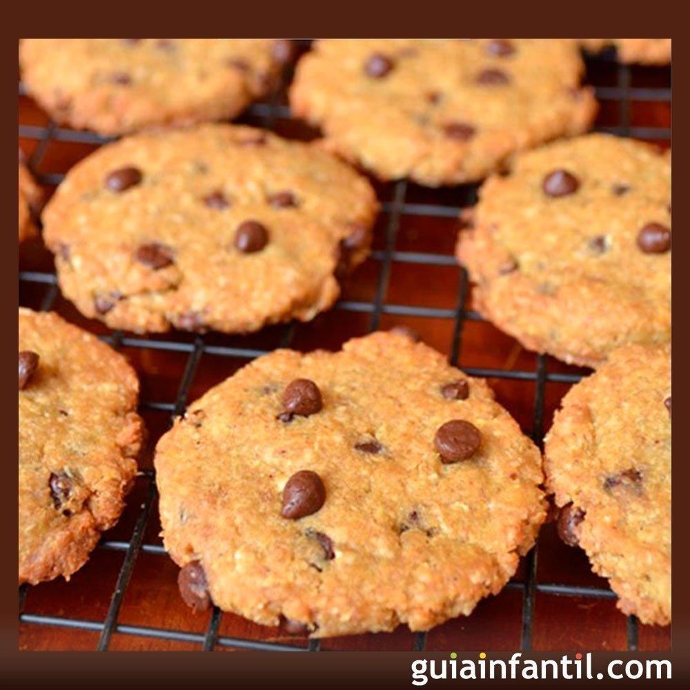 Galletas de quinua con chocolate. Recetas dulces para niños