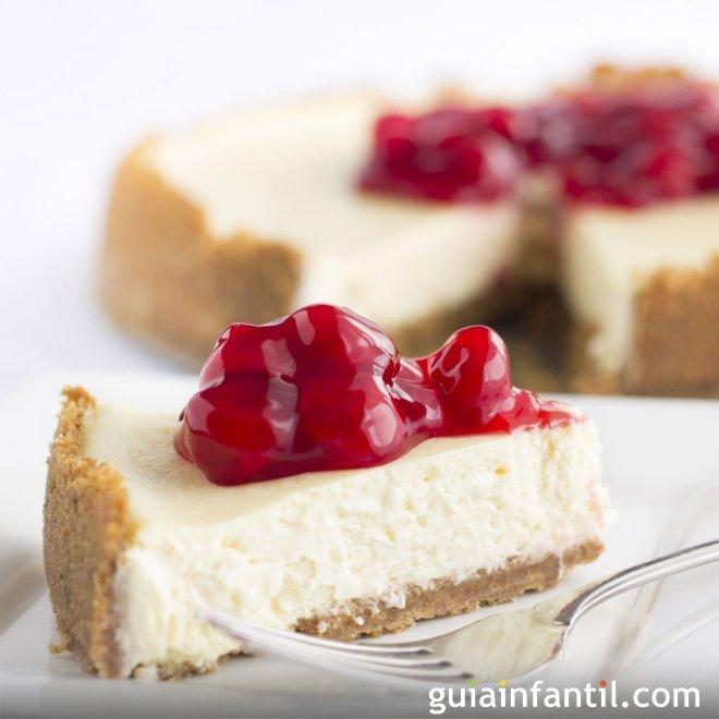 Tarta de queso con margarina. Receta de cheesecake