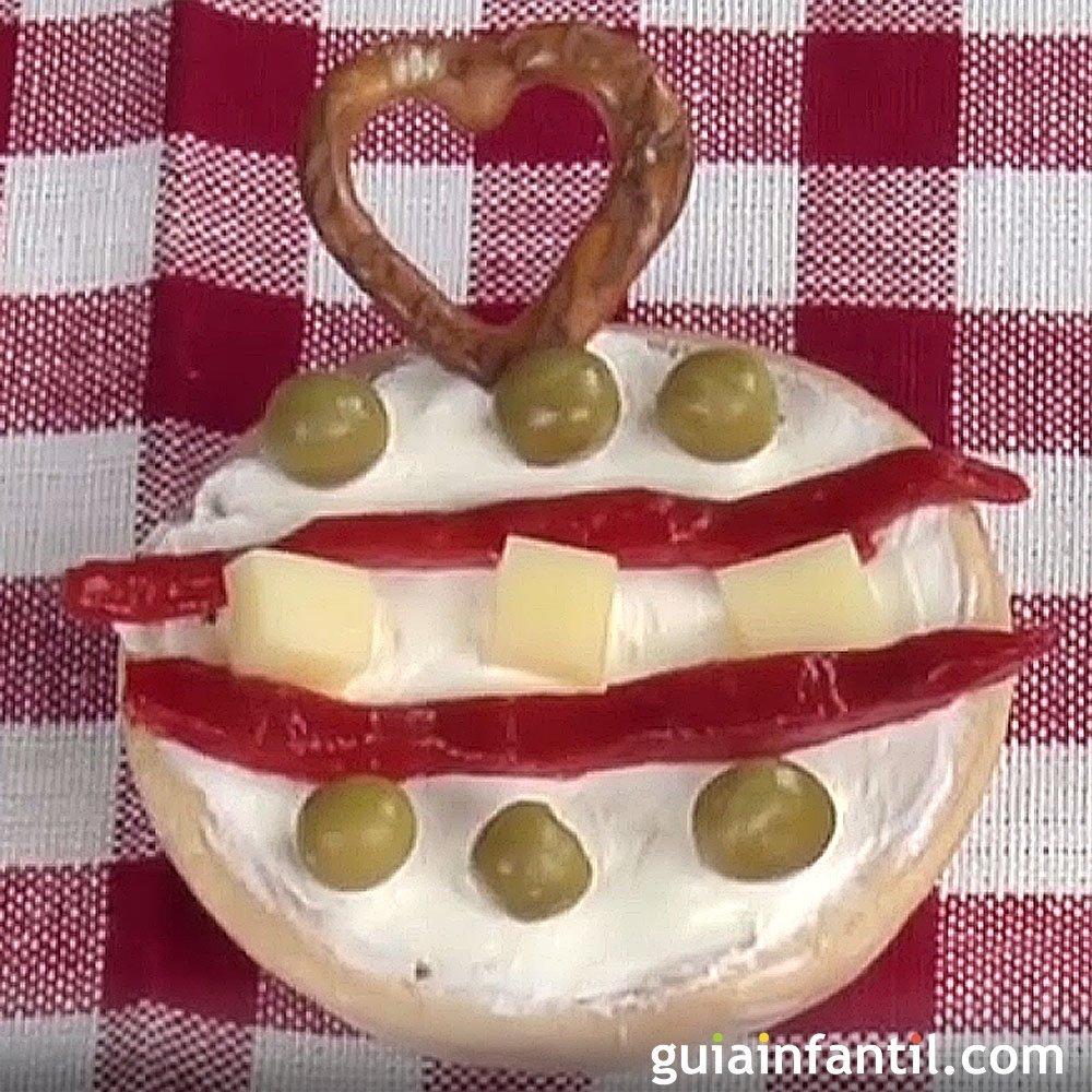 Canap de navidad con forma de bola navide a - Bolas de navidad para ninos ...