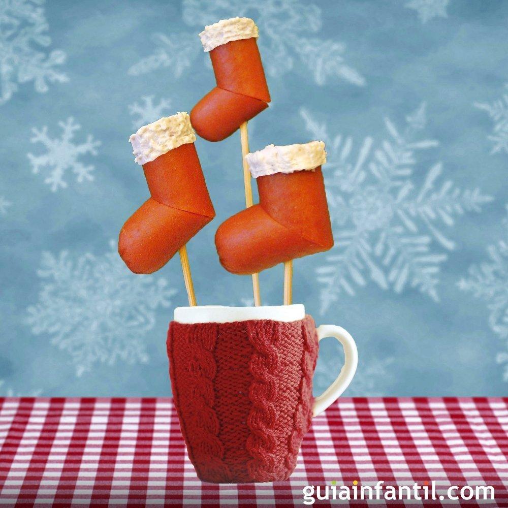 Canap s de navidad con forma de botas de pap noel for Canape para navidad