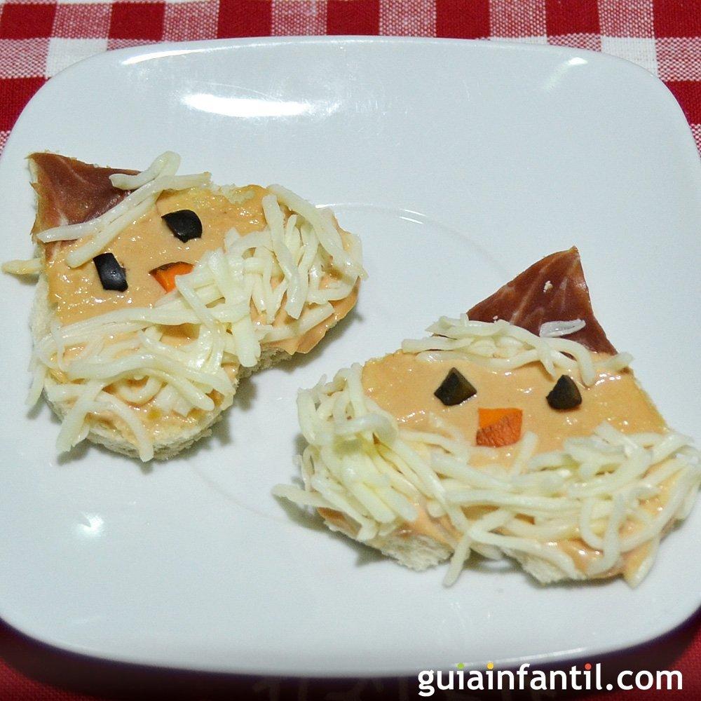 Canap s con forma de pap noel aperitivos para ni os - Como hacer un canape ...