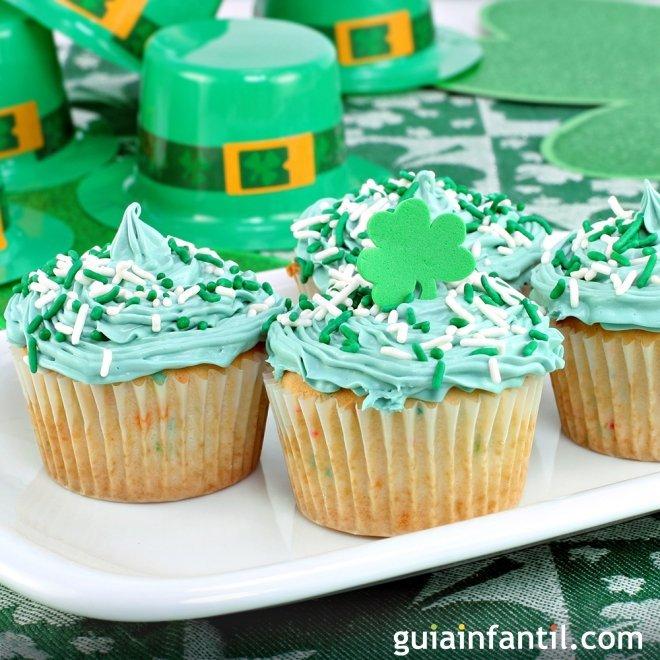 Receta de cupcakes para San Patricio