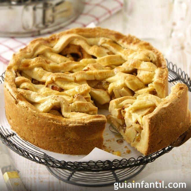 Tarta de manzana con margarina para niños