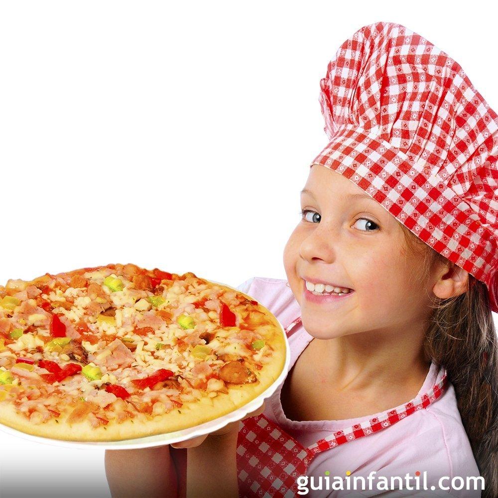 Recetas de pizzas para niños. Cocina italiana