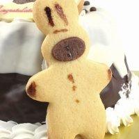 Galletas de vainilla y chocolate en forma de conejito