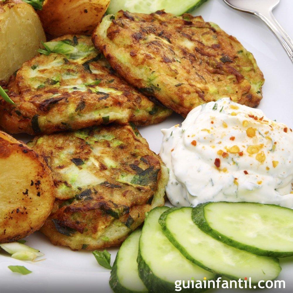 tortitas de calabac n recetas con verduras para ni os
