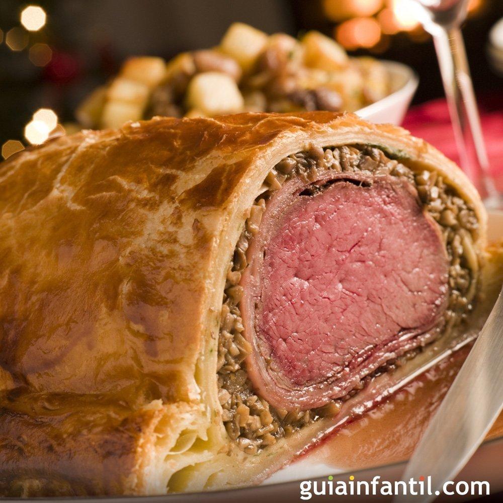 Beef wellington receta de carne envuelta en hojaldre - Como rellenar un redondo de ternera ...
