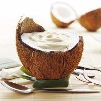 Mousse de coco. Receta de postre para niños