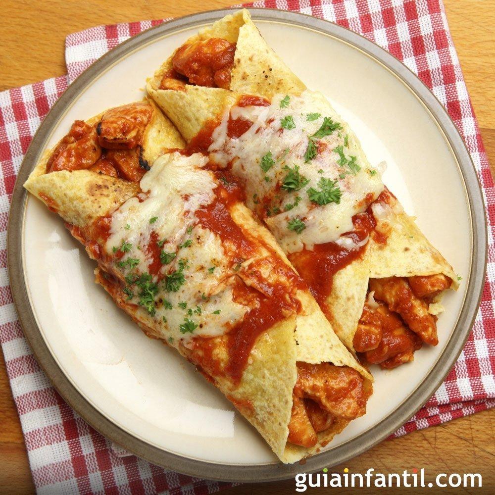 enchiladas con pollo