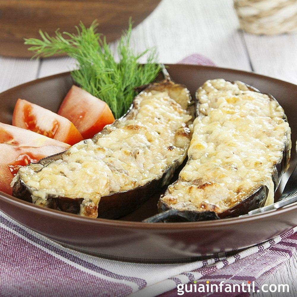 Berenjenas rellenas de carne picada receta f cil - Que cocinar con carne picada ...