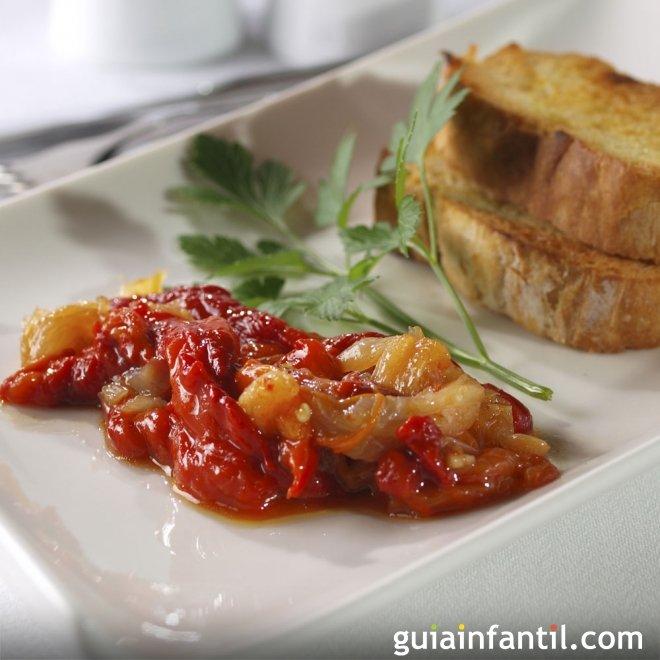 Receta de Esgarraet. Ensalada de pimientos y bacalao