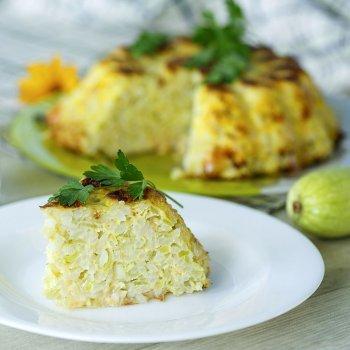 Pastel de calabacín con arroz
