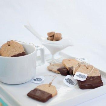 Galletas con forma de bolsita de té