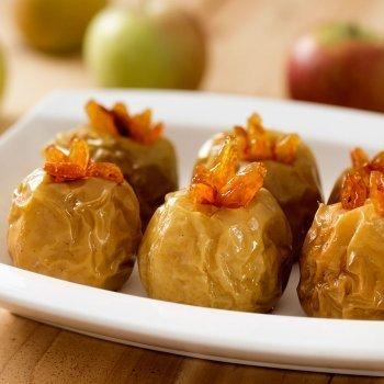 Manzanas asadas en el microondas