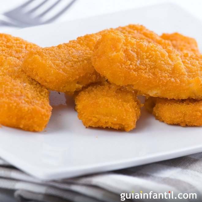 Palitos de merluza para niños. Recetas de pescado