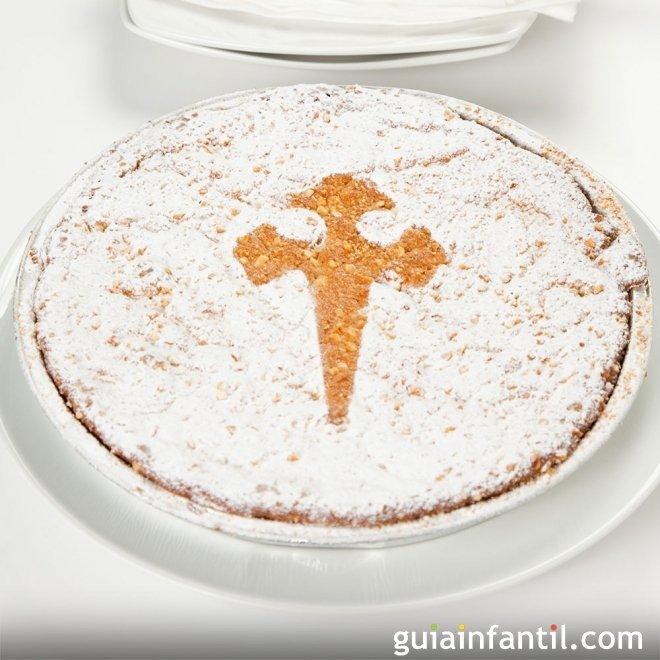Tarta de Santiago. Recetas de postres tradicionales