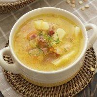 Sopa campesina de verduras con jamón