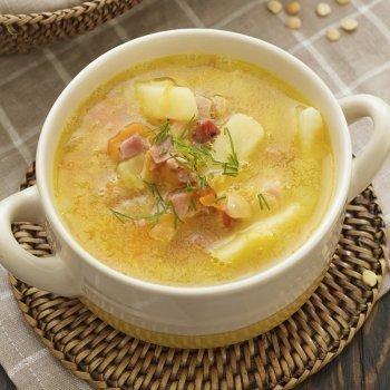 Sopa campesina con jamón