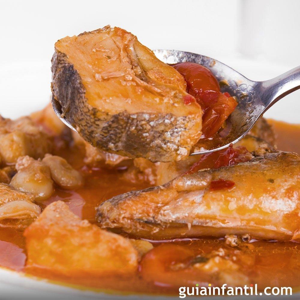 Merluza al horno con salsa de tomate para beb s for Merluza al horno facil