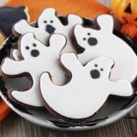 Galletas de fantasma terroríficas para Halloween