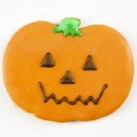 Galletas sonrientes de calabaza para Halloween