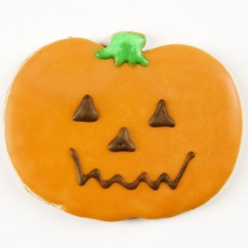 Galletas decoradas de calabaza