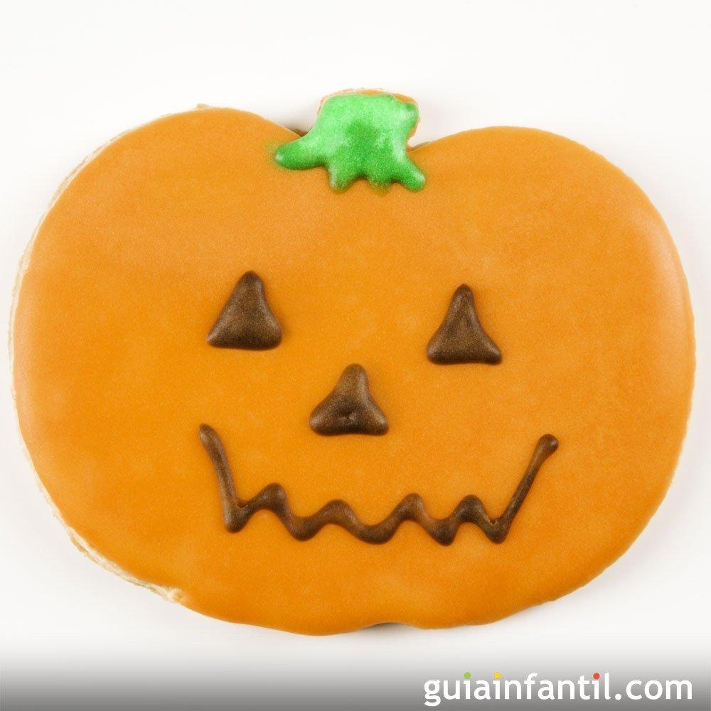 Galletas sonrientes de calabaza para halloween - Decorar calabaza halloween ninos ...