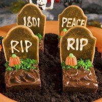 Tumbas de chocolate. Receta infantil para Halloween