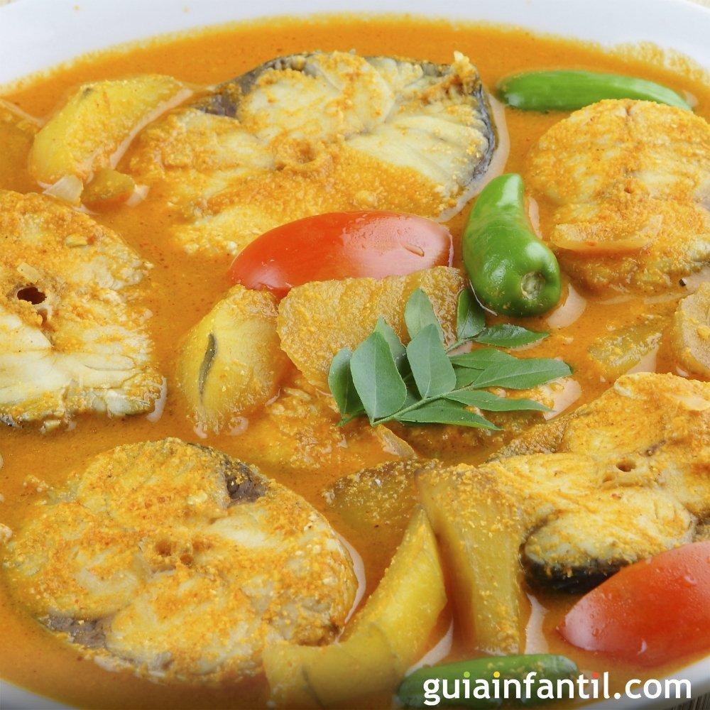 Merluza al curry recetas indias para ni os for Cocinar pescado para ninos