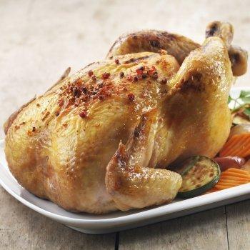 Pollo al horno en su jugo