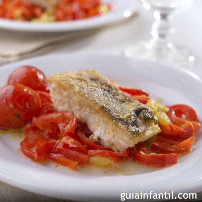 Bacalao con pimientos estilo español