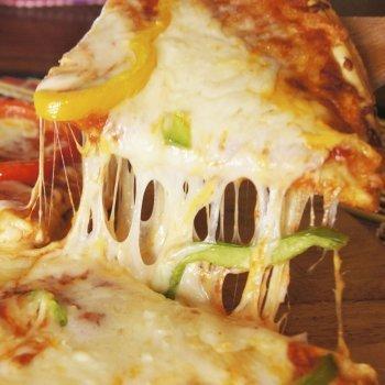 Pizza rellena de verduras