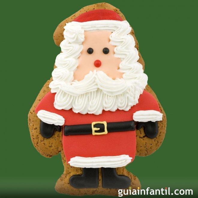 Galletas glaseadas de Papá Noel