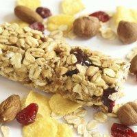 Barritas de cereales con frutos rojos