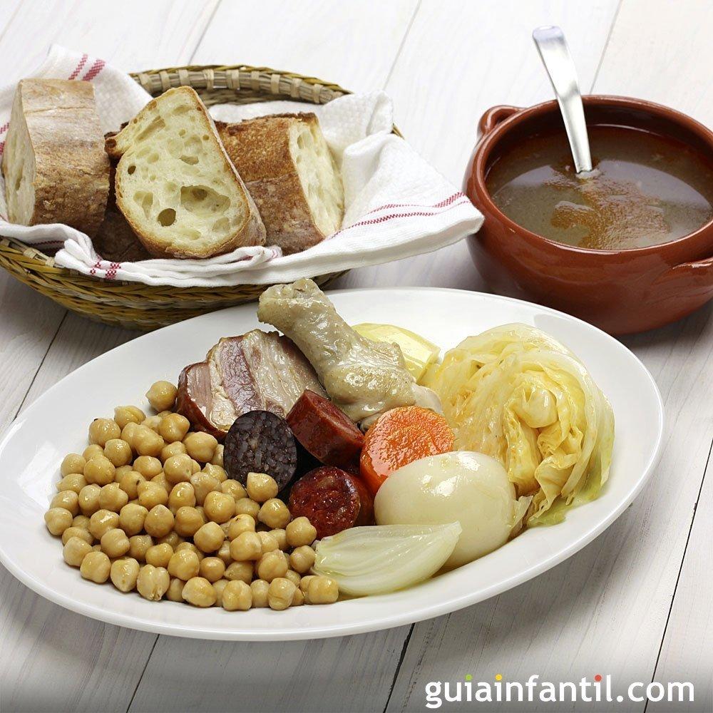 Cocido madrile o al estilo tradicional receta espa ola - Cocido en la olla express ...