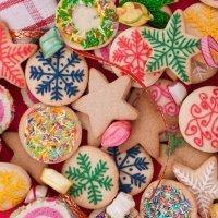Galletas de Navidad caseras de colores