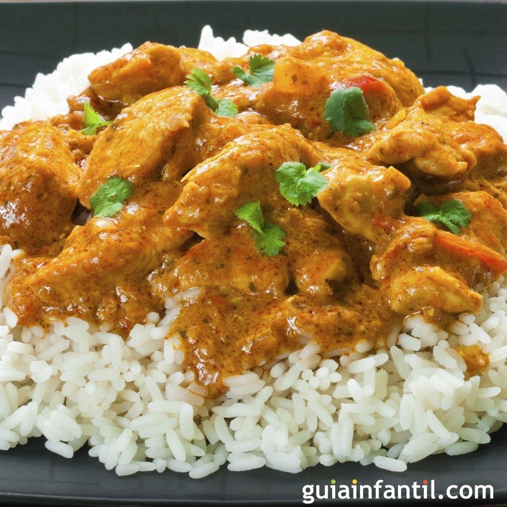 Arroz con pollo al curry cocina hind para ni os - Platos faciles para cocinar ...