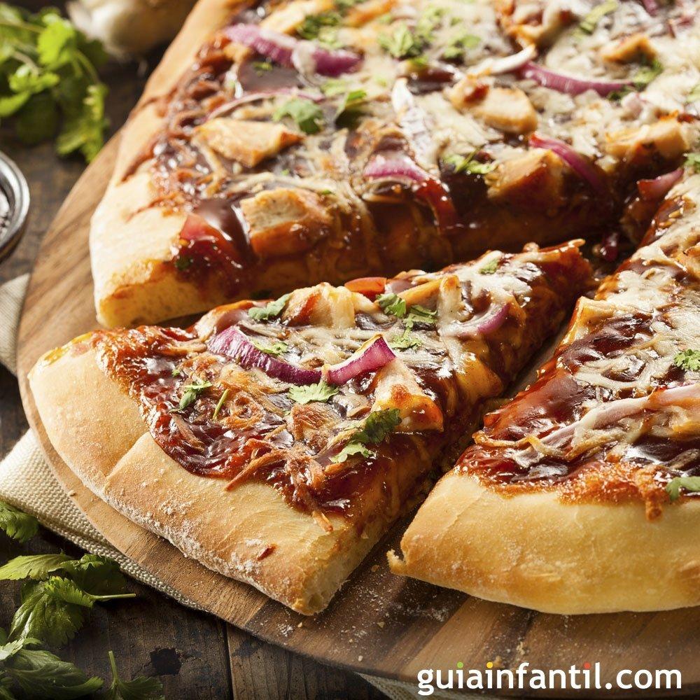 Pizza barbacoa, un clásico para niños