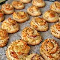 Espirales de jamón y queso. Aperitivo para niños
