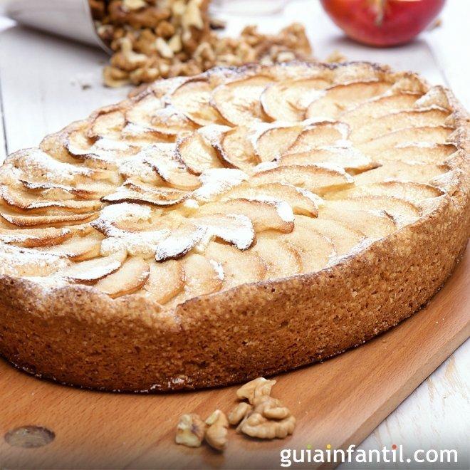 tarta de manzana casera sin gluten
