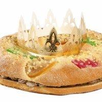 Roscón de Reyes relleno de trufa sin gluten para celiacos