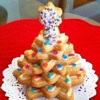 Árbol navideño de galletas, paso a paso