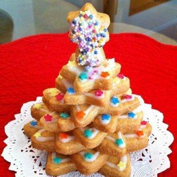 Árbol navideño de galletas