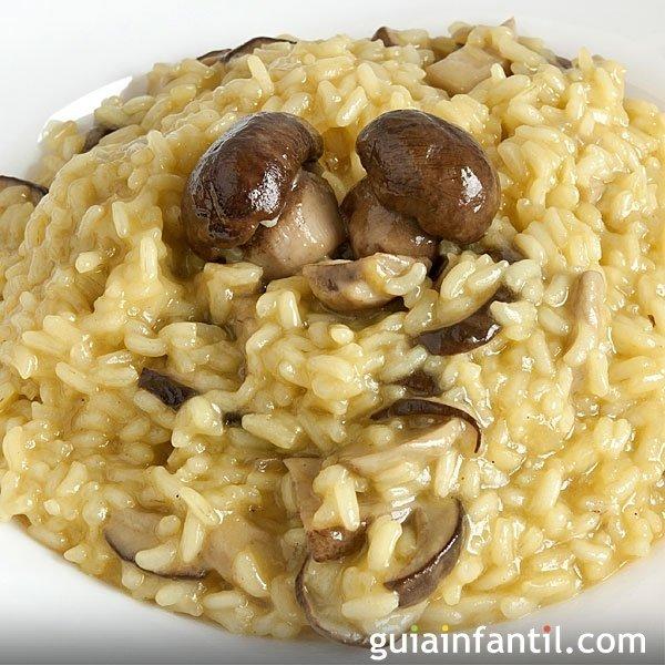 Risotto de setas receta tradicional italiana - Risoto con setas ...